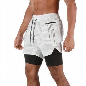 ASRV Silver-Lite White Camo Black Extender Shorts